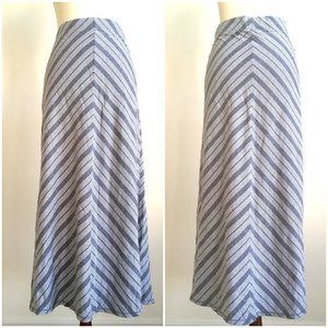 Sonoma Chevron Striped Stretch Jersey Maxi Skirt